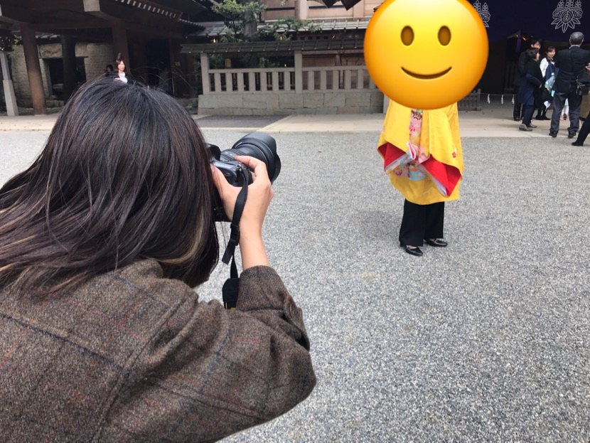 カメラマンが撮影してるところ